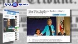 Bà Clinton muốn ông Sanders rút khỏi cuộc đua (VOA60)