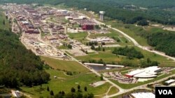 An aerial view of the Y-12 Plant in Oak Ridge, Tennessee.