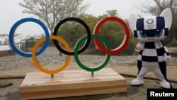 東京2021年4月14日公佈2020夏季奧運會吉祥物(路透社)