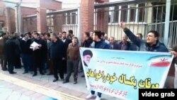 İşçilərin mitinqi - Urmiyə, fevral 2018