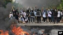 Demonstranti u Jangonu