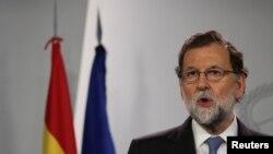 Mariano Rajoy à Madrid, en Espagne le 27 octobre 2017.