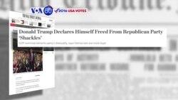 Manchetes Americanas 12 Outubro: Donald Trump declarou-se livre dos grilhões do partido republicano