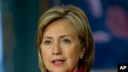 US Secretary of State Hillary Clinton (file photo)