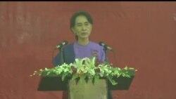 2013-03-10 美國之音視頻新聞: 昂山素姬正式獲選成為反對黨領袖
