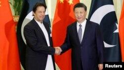 چینی صدر اور پاکستانی وزیراعظم کی ملاقات کا ایک منظر