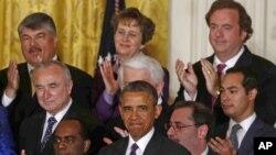 Predsednik Obama u Istočnoj sobi Bele kuće govori o imigracionoj reformi 11. juna 2013.