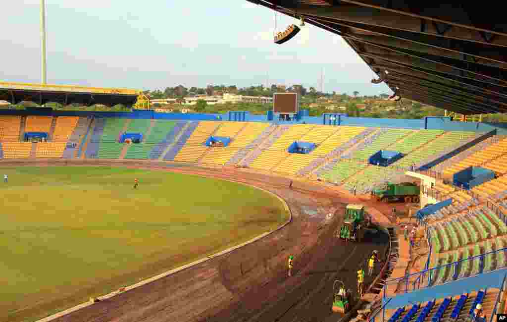 Interior view of the south side of the Franceville stadium (Gabon Local Organizing Committee)