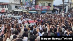 مریم نواز گزشتہ کئی روز سے پاکستانی کشمیر میں انتخابی مہم کے لیے موجود ہیں۔