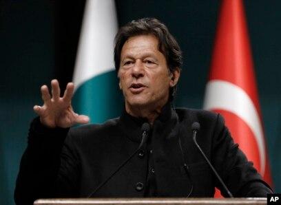 FILE - Pakistan's Prime Minister Imran Khan speaks during a news conference in Ankara, Turkey, Jan. 4, 2019.