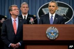 Prezident Obama Pentaqonda çıxış edərkən