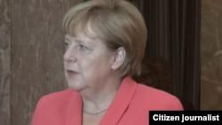Angela Merkel shugabar kasar Jamus da yanzu take ziyara a Nijar