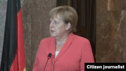 Chansela wa Ujerumani, Angela Merkel akiwa nchini Niger