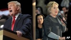 Le candidat républicain à la présidentielle américaine Donald Trump, à gauche, et sa rivale démocrate Hillary Clinton.