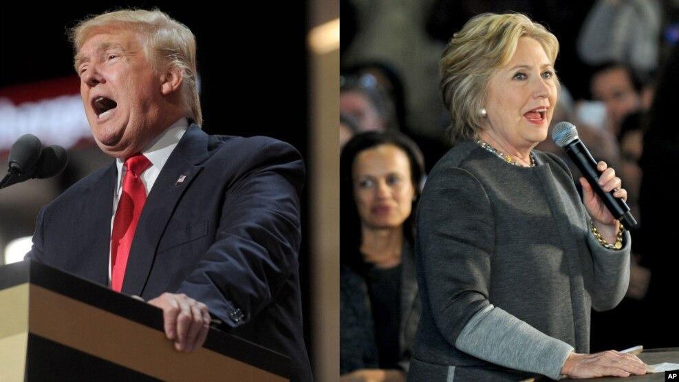 Donald Trump နဲ႔ Hillary Clinton တို႔ မဲဆြယ္စည္း႐ုံးစဥ္