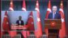 Turkiya Prezidenti Rajab Toyyib Erdog'an razvedka xizmati O'rxan Inandini Qirg'izistondan olib kelganini e'lon qilmoqda. 5-iyul, 2021.