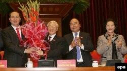 Dàn lãnh đạo mới của Việt Nam, đứng đầu là Tổng Bí Thư Nguyễn Phú Trọng.