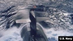 미 핵잠수함 켄터키 호. (자료사진)