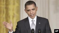 奥巴马在同墨西哥总统卡尔德隆举行的新闻发布会上作评论
