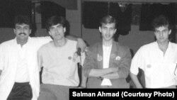 سلمان احمد، جنید جمشید، روحیل حیات اور شہزاد حسن کی 'وائٹل سائنز' کے زمانے کی یادگار فوٹو