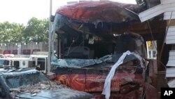 Un accident d'un autobus
