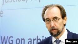 자이드 라아드 알 후세인 유엔 인권최고대표가 11일 스위스 제네바에서 열린 36차 유엔 인권이사회 참석했다.