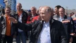 Putin Opens Bridge Linking Russia to Crimea