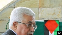 The President of the Palestinian National Authority, Mahmoud Abbas, presides over a ceremony to lay the cornerstone for a Palestine Embassy in Brasilia, 31 Dec 2010