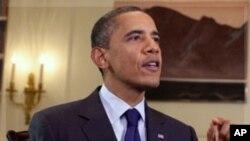 긴급성명을 낸 바락 오바마 미 대통령