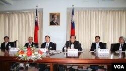 台美國會議員聯誼會訪美團舉行記者會