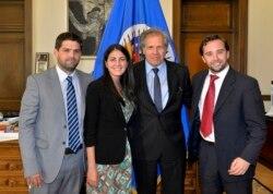 Rosa María Payá dialoga sobre el convenio de RedLat con la OEA