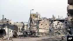 3月7日霍姆斯被摧毁的建筑物