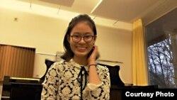 Cô Nguyễn Quang Hồng Ân, con gái của nhà hoạt động Nguyễn Quang Hồng Nhân.