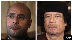 Сейф аль-Іслам (ліворуч) і його батько Муаммар Каддафі