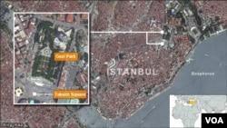 Peta wilayah Istanbul, Turki