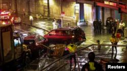 Escena del accidente ocurrido en el distrito de Manhattan, de la ciudad de Nueva York, Estados Unidos, el lunes 26 de noviembre de 2018.