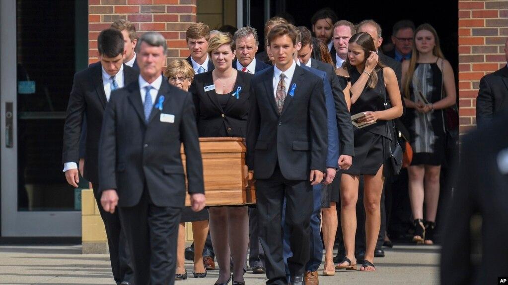 Tang lễ của Otto Warmbier tại trường Trung học Wyoming ngày 22/06/ 2017.