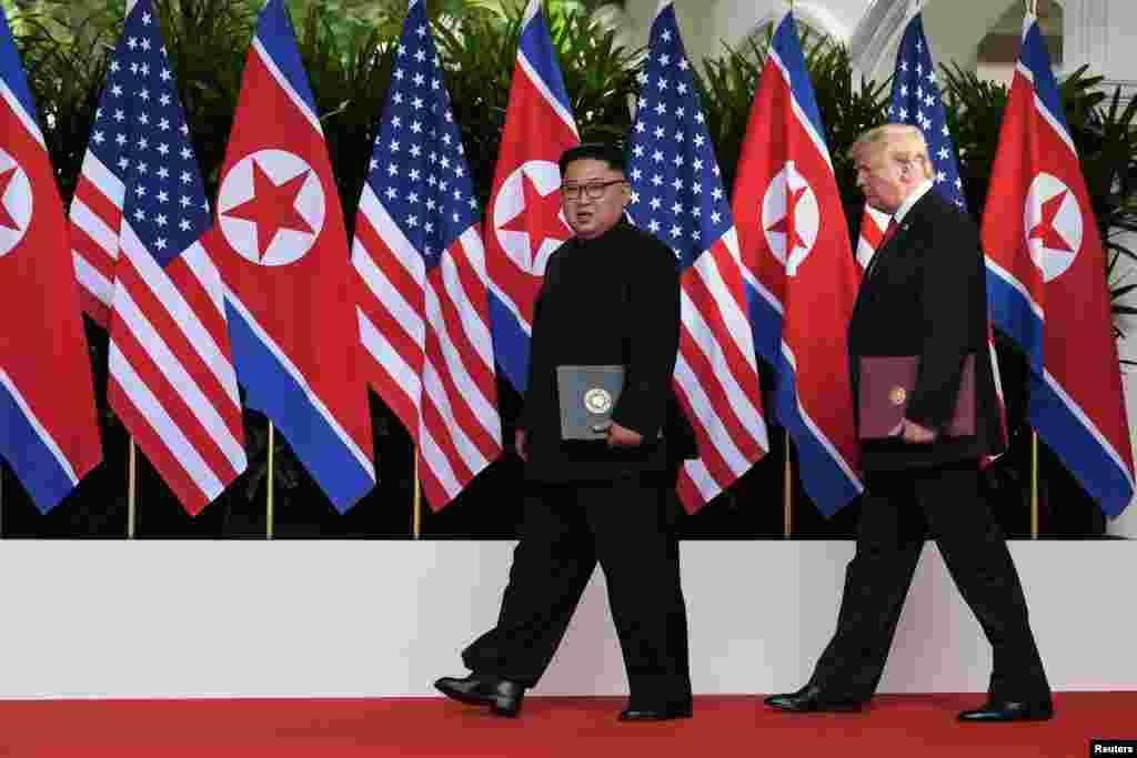 Ganawar Shugaban Amurka Donald Trump da Kim Joung Un a Singapore
