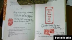 Cuốn sách Đường thi Quốc âm cổ bản của đồng soạn giả Nguyễn Xuân Diện - Trần Ngọc Đông. (Ảnh: Facebook Nguyễn Xuân Diện)