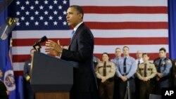 Predsednik Barak Obama govori u Mineapolisu u Minesoti