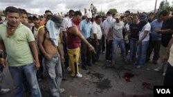 Korban akibat sekelompok orang bersenjata melepaskan tembakan di sebuah lapangan sepak bola di kota San Pedro
