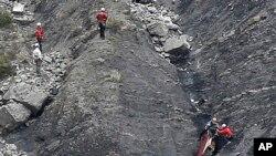 Lokasi jatuhnya pesawat Airbus A320 Germanwings