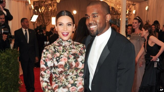 "Kim Kardashian and Kanye West attend The Metropolitan Museum of Art  Costume Institute gala benefit, ""Punk: Chaos to Couture"", on May 6, 2013 in New York."