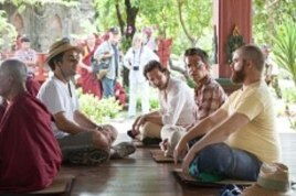 (L to R) Director Todd Phillips, Bradley Cooper, Ed Helms and Zach Galifianakis on location during the production of Warner Bros. Pictures' and Legendary Pictures' comedy THE HANGOVER PART II a Warner Bros. Pictures production.