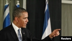 Tổng thống Obama tại cuộc họp báo ở Jerusalem, 20/3/2013.