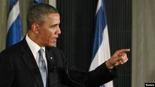 President Obama at news conference in Jerusalem, Mar. 20, 2013