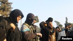 Fighters from the Islamic State in Iraq and the Levant. (File)