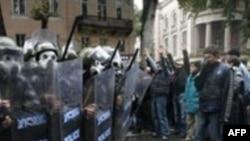 Грузинская оппозиция отметила маршем два месяца протестов