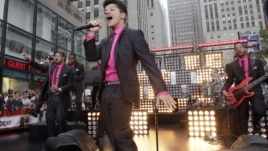 Bruno Mars performs on the NBC