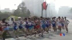 2014-04-13 美國之音視頻新聞: 平壤首次允許外國游客參加年度馬拉松
